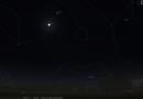 Congiunzione tra Marte e la Luna